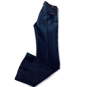 7 For All Mankind Dojo Flare Leg Trouser Jeans 25